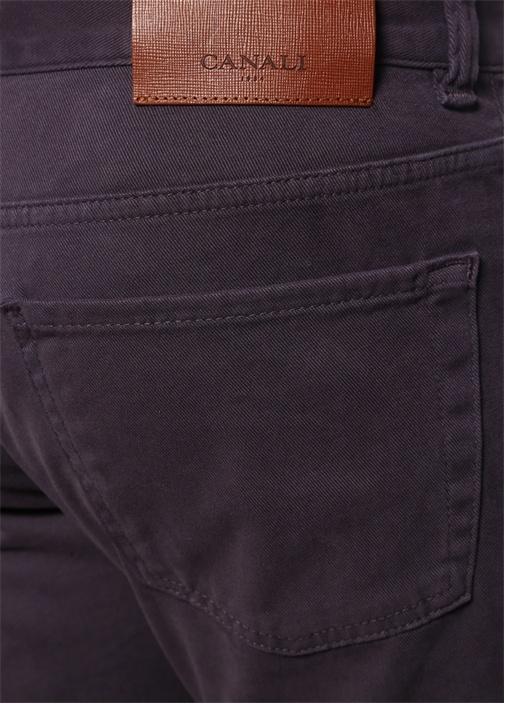 Regular Fit Mor Kanvas Pantolon