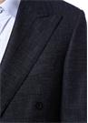 Lacivert Çizgi Desenli Yün Kruvaze Takım Elbise