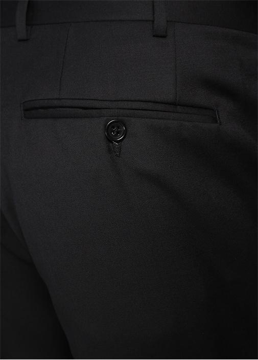 Drop 6 Siyah Boru Paça Yün Pantolon