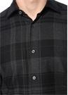 Siyah Ekose Desenli İngiliz Yaka Gömlek