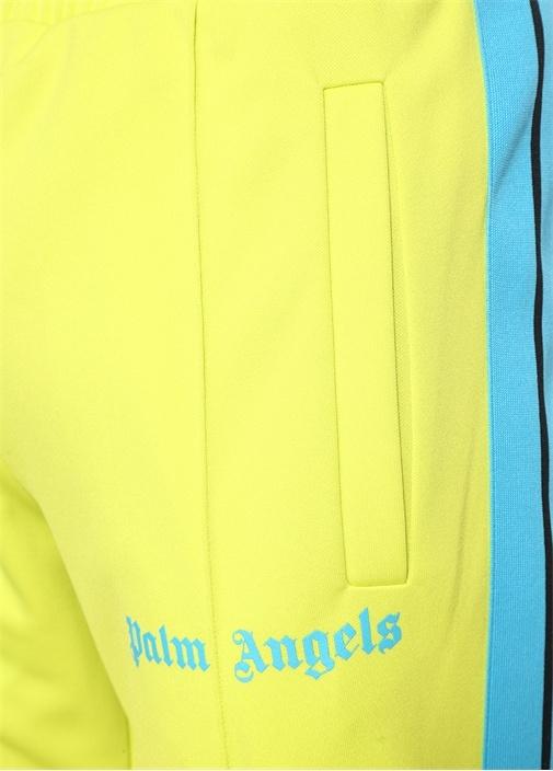 Neon Sarı Mavi Normal Bel Dar Paça Eşofman Altı