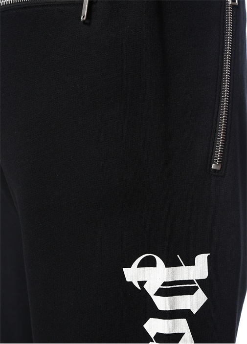 Siyah Logo Baskılı Jogger Eşofman Altı