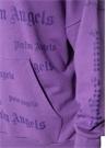 Mor Kapüşonlu Logo Baskılı Sweatshirt