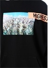 Siyah Kapüşonlu Fotoğraf Baskılı Sweatshirt