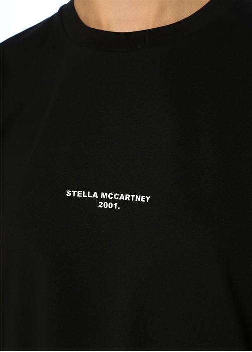 Siyah Logo Baskılı Basic T-shirt