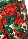Portofino Kırmızı Yüksek Bel Çiçekli Crop Pantolon