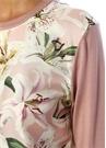Lilium Pembe Desenli Garnili İpek Kazak