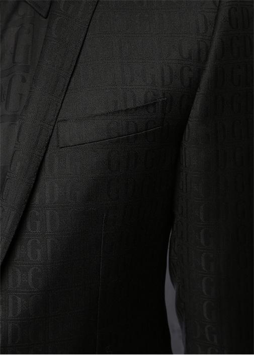 Gold Siyah Kelebek Yaka Logo Jakarlı Yün Smokin