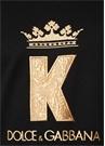 Siyah Gold Logo Nakışlı Sweatshirt