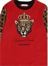 Kırmızı Kaplan Baskılı Kız Çocuk T-shirt