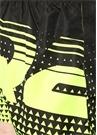Siyah Neon Sarı Logo Baskılı Mayo