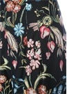 Lacivert Çiçek Desenli Bol Paça Pantolon