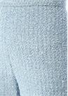 Mavi Yüksek Bel Bol Paça Tweed Pantolon