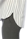 Gri Beyaz Çizgili Kısa Kol Gömlek