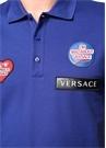 Mavi Polo Yaka Patch Detaylı T-shirt