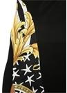 Savage Barocco Siyah Garni Detaylı Midi Elbise