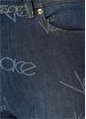 Normal Bel Logo Desenli Dar Paça Jean Pantolon