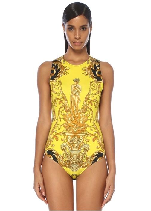 Gold Barok Desenli Sırtı Kesim Detaylı Body