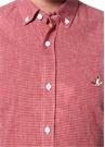 Slim Fit Kırmızı Pötikareli Gömlek