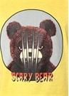 Scary Bear Sarı Baskılı T-shirt