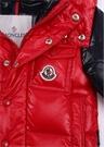 Biarriz Kırmızı Kapüşonlu Erkek Bebek Puff Mont