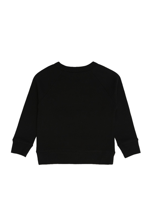 Siyah Logo Baskılı Erkek Çocuk Sweatshirt