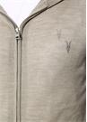 Mode Haki Kapüşonlu Logolu Yün Hırka