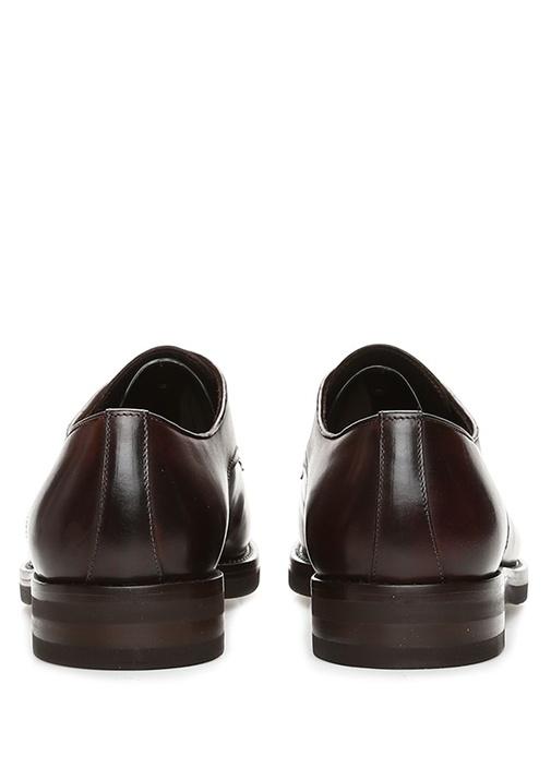 Kahverengi Şerit Detaylı Erkek Deri Ayakkabı