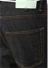 Siyah Beli Kordonlu Baskılı Jean Pantolon