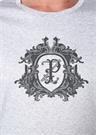 Gri Logo Baskılı T-shirt