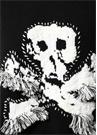 Skull Siyah İşlemeli Püskül Detaylı Yün Kazak