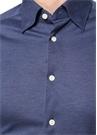 Lacivert İngiliz Yaka Dokulu Gömlek