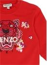 Kırmızı Kaplan Patchli Kız Bebek Elbise