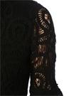 Eudora Siyah Uzun Kol Midi Dantel Elbise