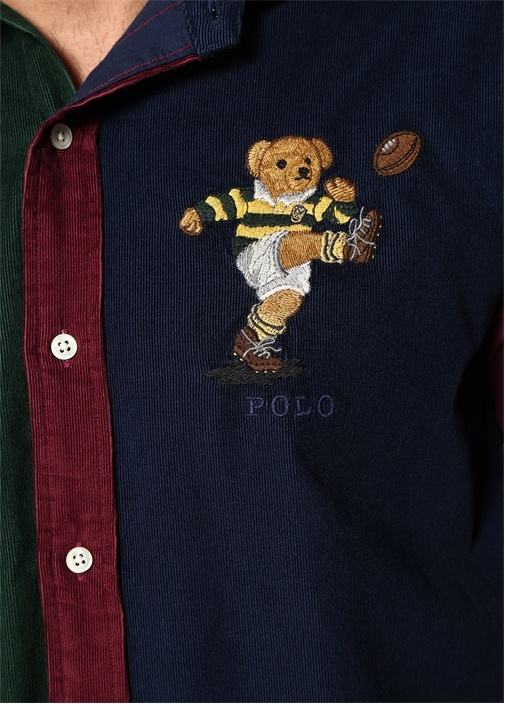 Colorblocked Kapüşonlu Logolu Gömlek