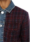 Chelsy Bordo Denim Garnili Tweed Ceket