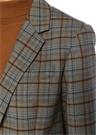 Gri Ekoseli Tek Düğmeli Blazer Ceket