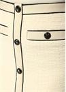 Ekru Kontrast Biyeli Mini Tweed Etek