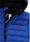 Lacivert Kapüşonlu Erkek Bebek Puff Ceket