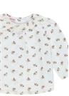 Beyaz Pembe 2'li Kız Bebek Pantolon Bluz Seti
