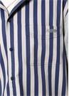 Mavi Gri Kapüşonlu Çizgili Sweatshirt