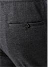 Gri Nervür Detaylı Yün Pantolon