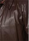 Kahverengi İngiliz Yaka Deri Görünümlü Mont