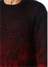 Siyah Kırmızı Jakarlı Kazak