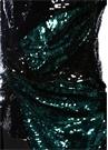 Hemingford Siyah Yeşil İşlemeli DrapeliBluz