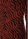 Joni Kiremit Zebra Desenli Mini Yün Triko Elbise