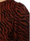 Massey Kiremit Zebra Desenli Yün Kazak