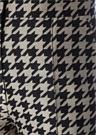 Bej Siyah Kazayağı Desenli Yün Pantolon