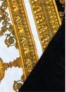 Beyaz Gold Barok Baskılı Havlu
