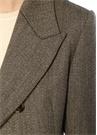 Kırlangıç Yaka Düğmeli Kruvaze Yün Ceket
